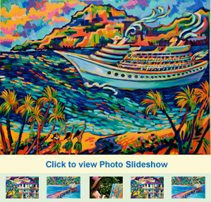 View photo slideshow of Camile Fontaine's paintings at The Garden Island Inn