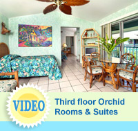 Orchid Rooms - hotel rooms at The Garden Island Inn