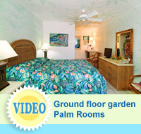 Palm Rooms - hotel rooms at The Garden Island Inn