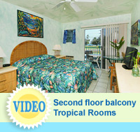 Tropical Rooms - hotel rooms at The Garden Island Inn